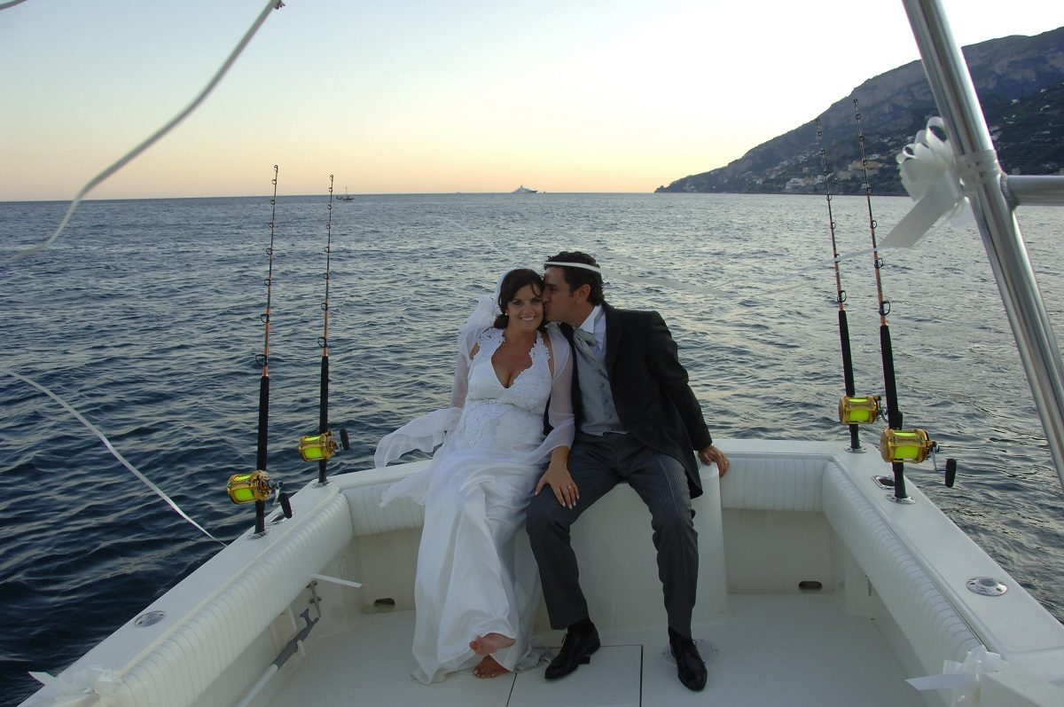 A boat ride at sunset - live your Amalfi Coast Wedding experience to the fullest