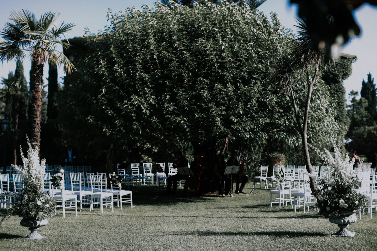Alessandro and Diego - garden wedding ceremony