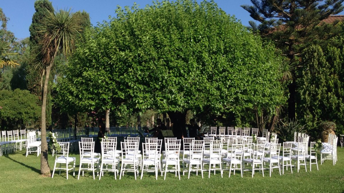 Alessandro and Diego - open air garden wedding ceremony