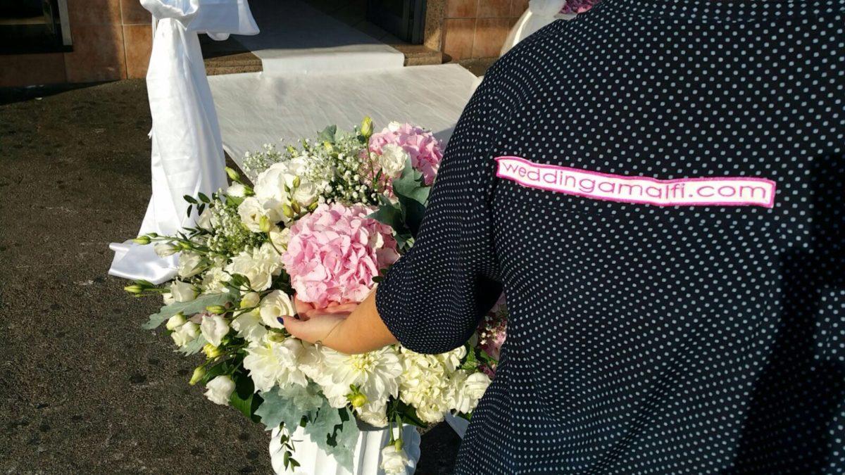 Domenico and Maria - Wedding Amalfi staff at work