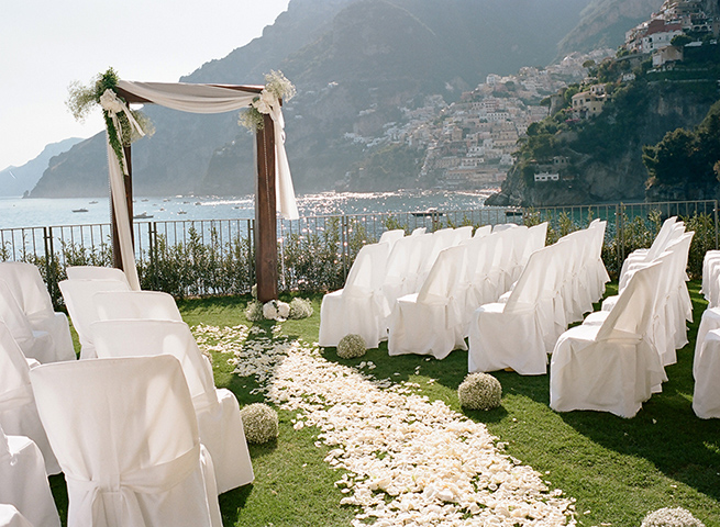 Modern White and Green Wedding in Italy