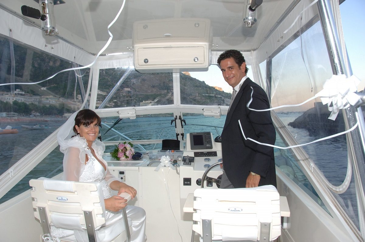 the Amalfi Coast wedding experience - a boat ride at sunset
