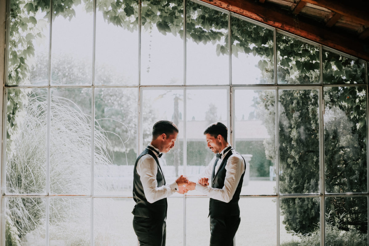 Alessandro and Diego - getting ready for wedding