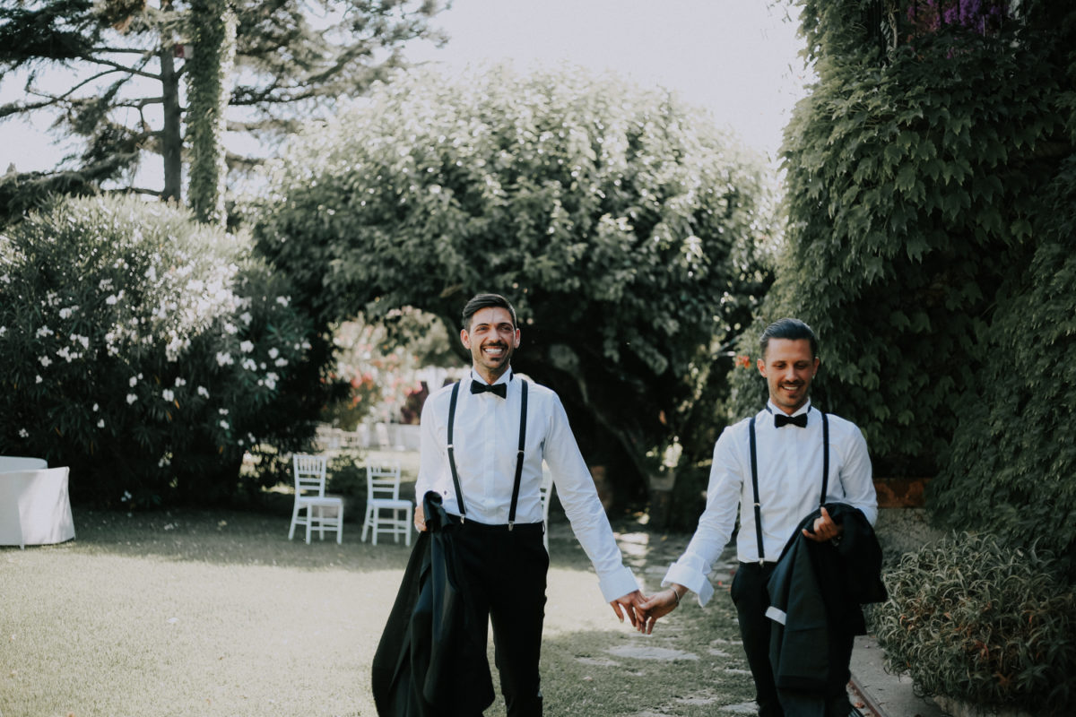 Alessandro and Diego - grooms wedding dress