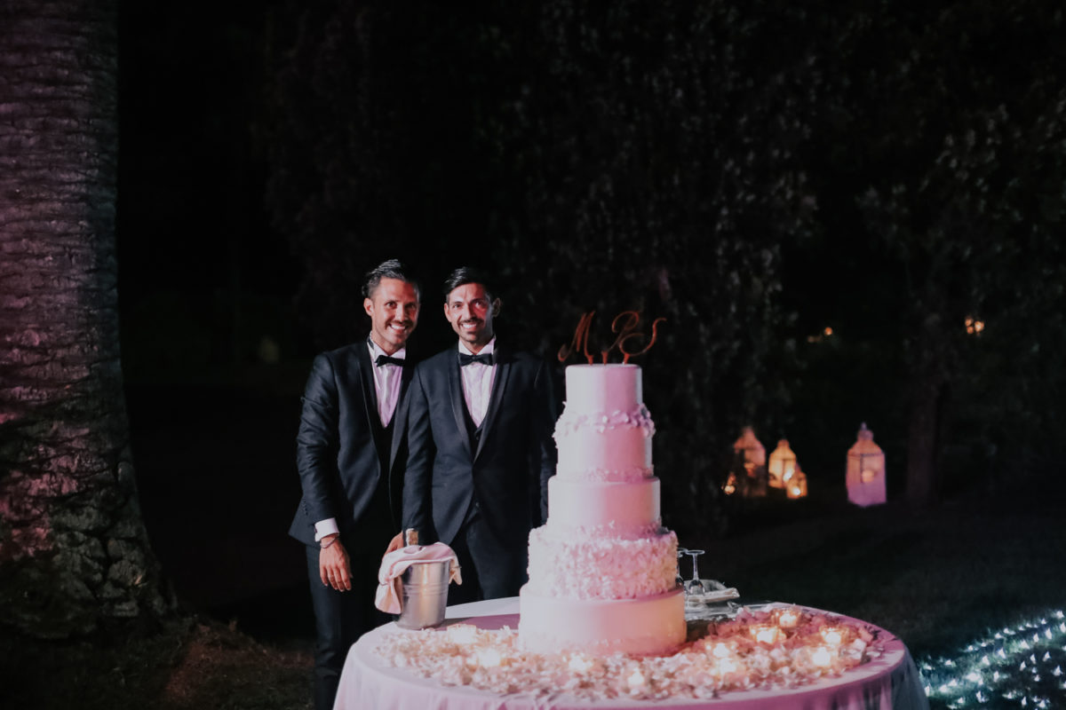 Alessandro and Diego - wedding cake and candles