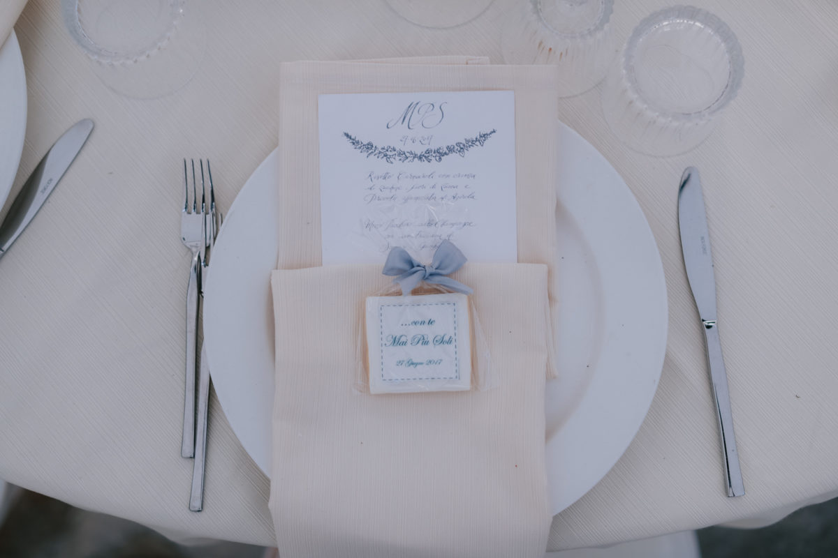 Alessandro and Diego - wedding place card and menu