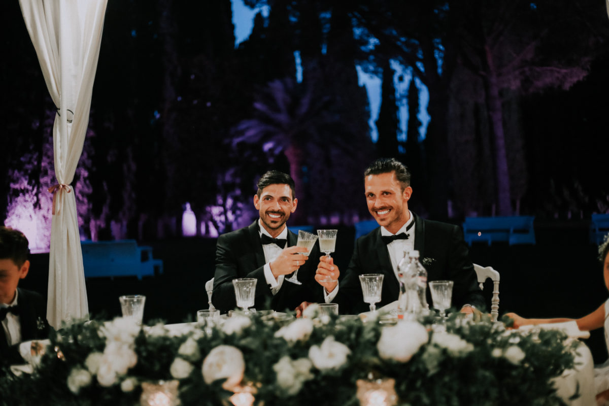 Alessandro and Diego - wedding table decoration