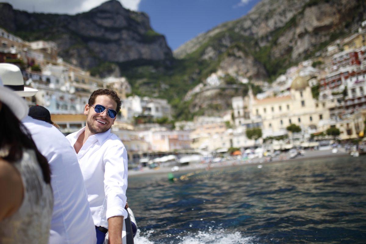 Benjamin on the boat - day 2