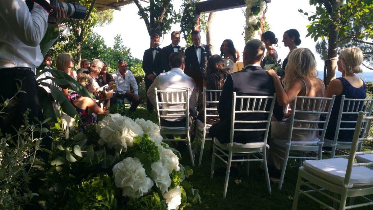 Laura and Jarrod wedding ceremony
