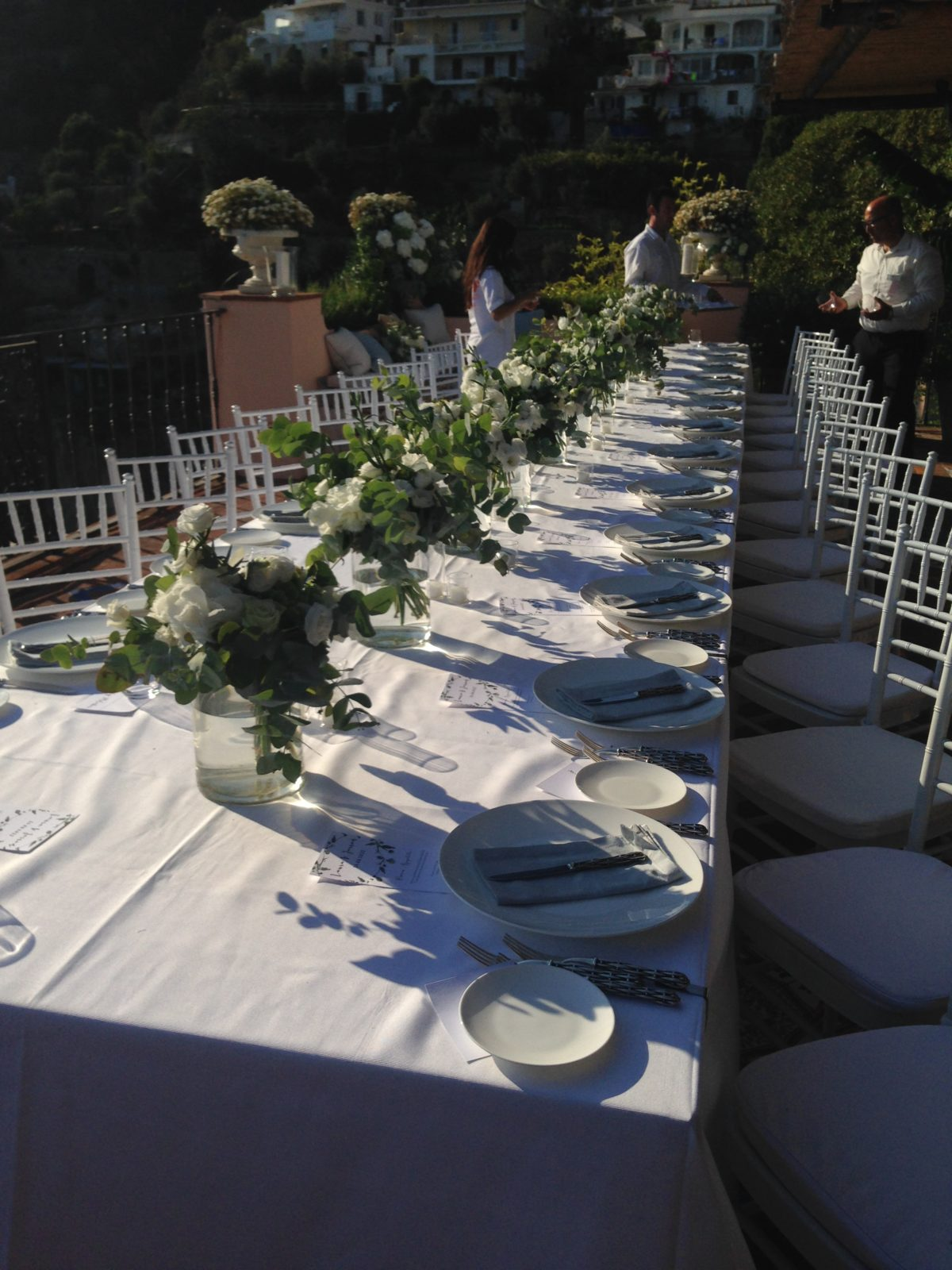 Laura and Jarrod wedding table decoration